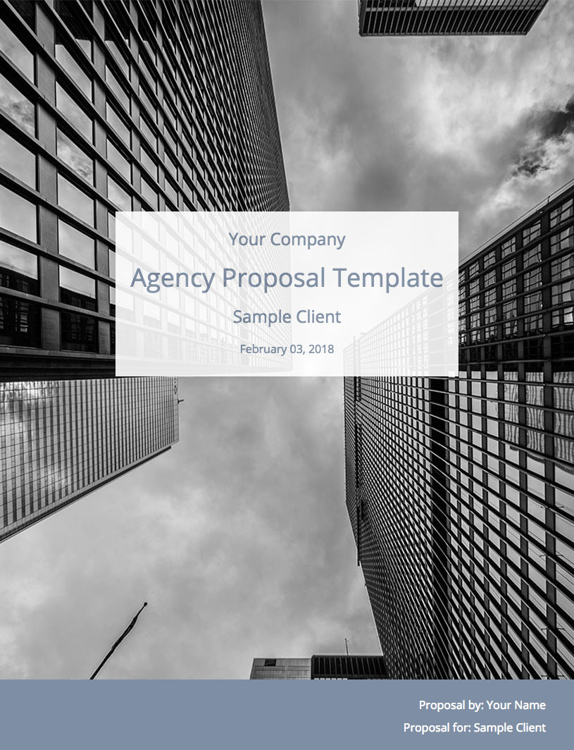 Digital Agency Proposal Template Cover Image