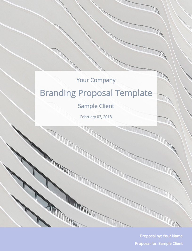 Branding Proposal Template Cover Image