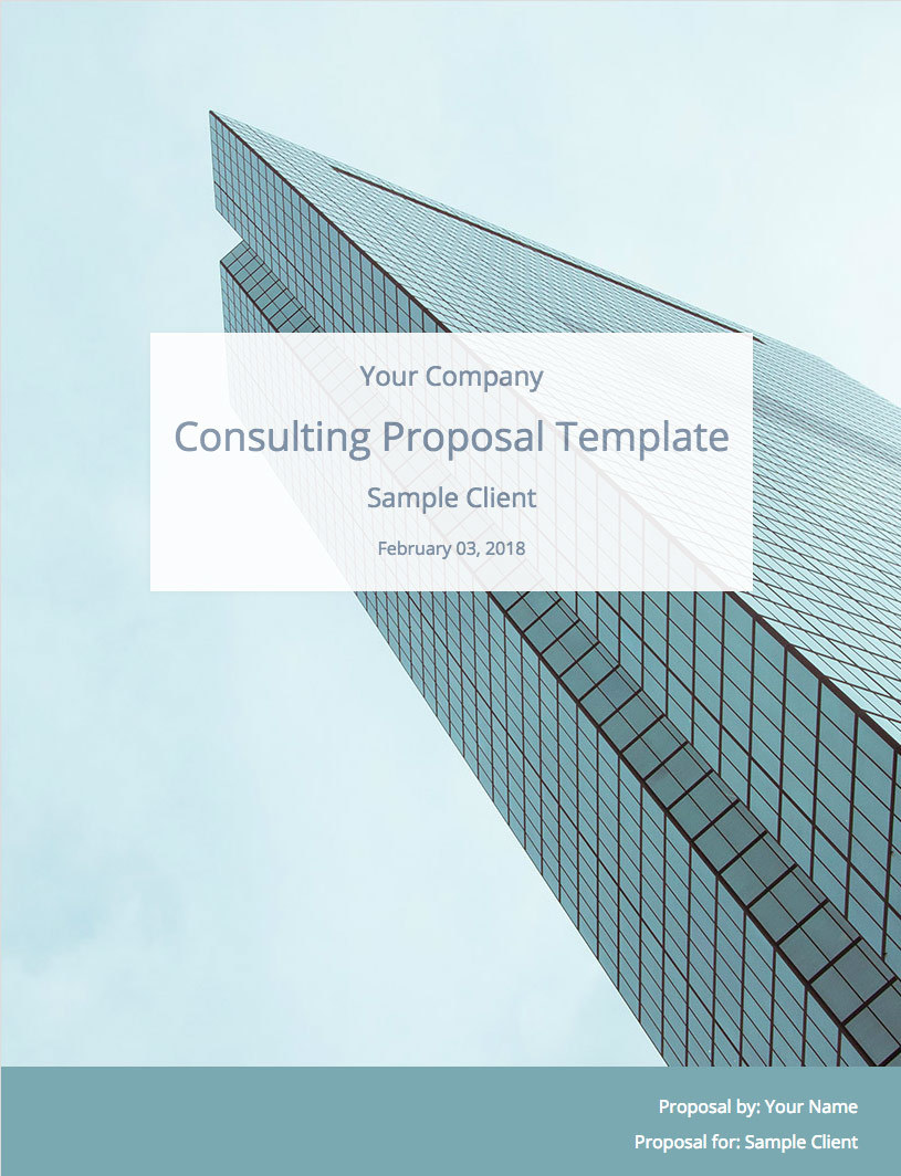 Consulting Proposal Template | Consulting Proposal Template Free Download Bidsketch