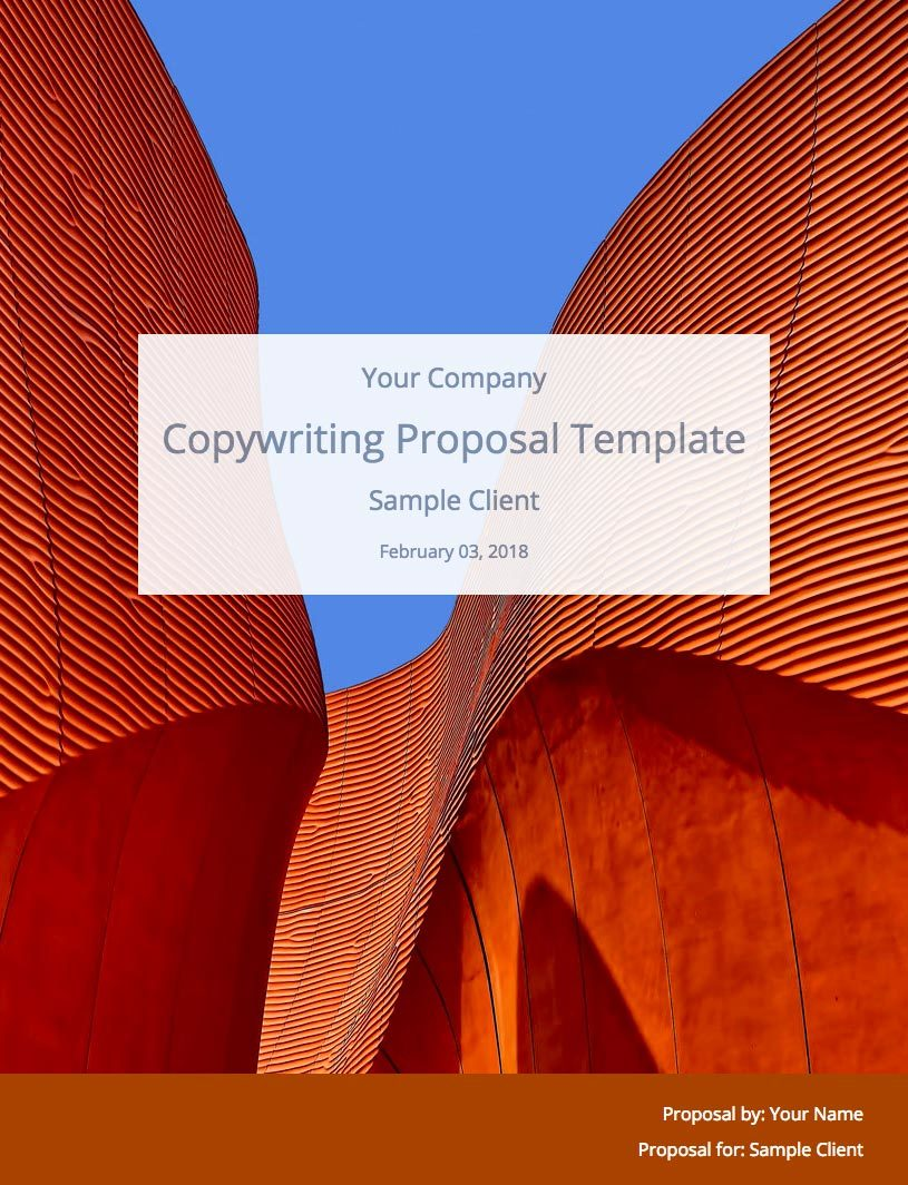 Copywriting Proposal Template Cover Image