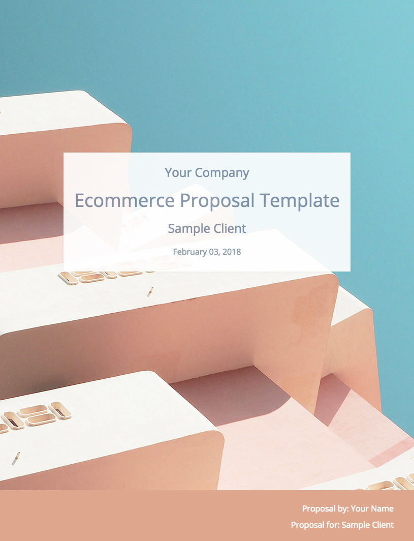 Ecommerce Proposal Template Cover Image