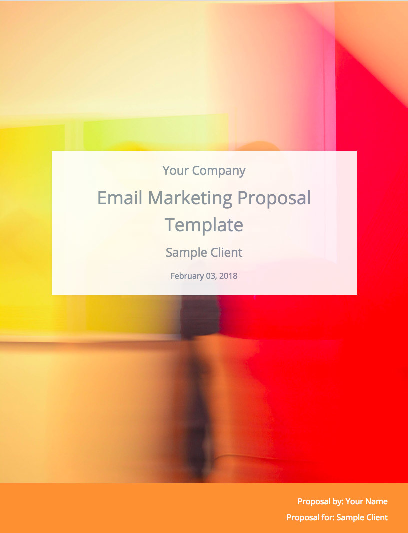 Email Marketing Proposal Template Cover Image