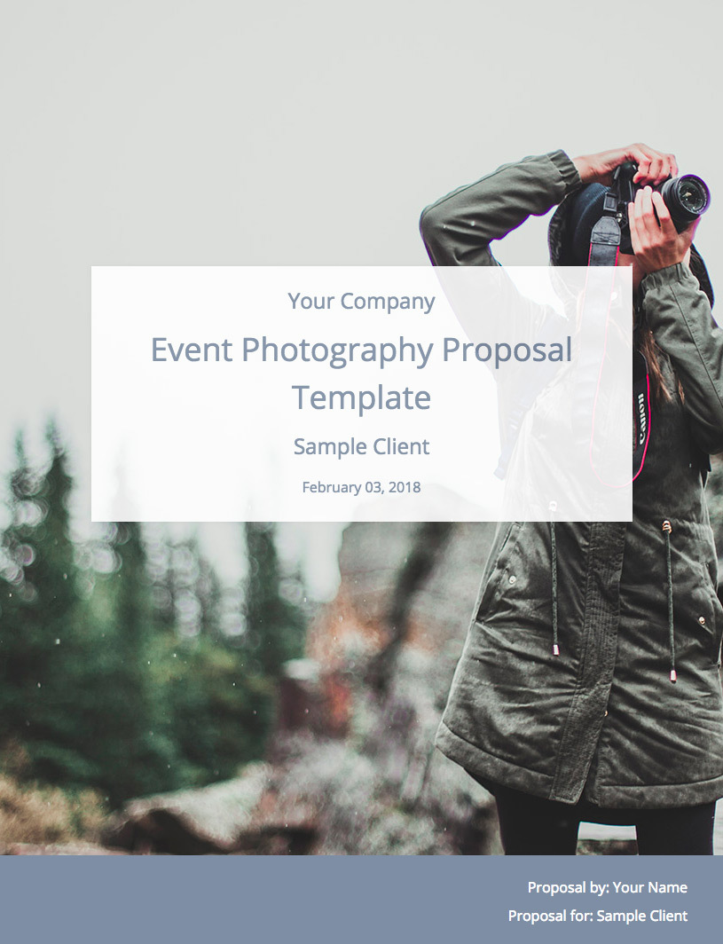 Event Photography Proposal Template Cover Image