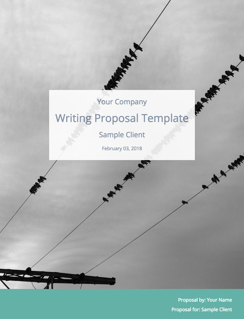 Freelance Writing Proposal Template Cover Image