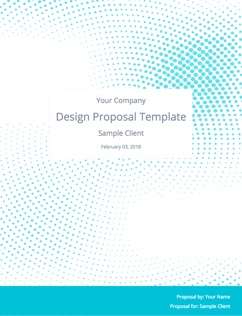 Graphic Design Proposal Template Cover Image  Graphic Design Proposal Example
