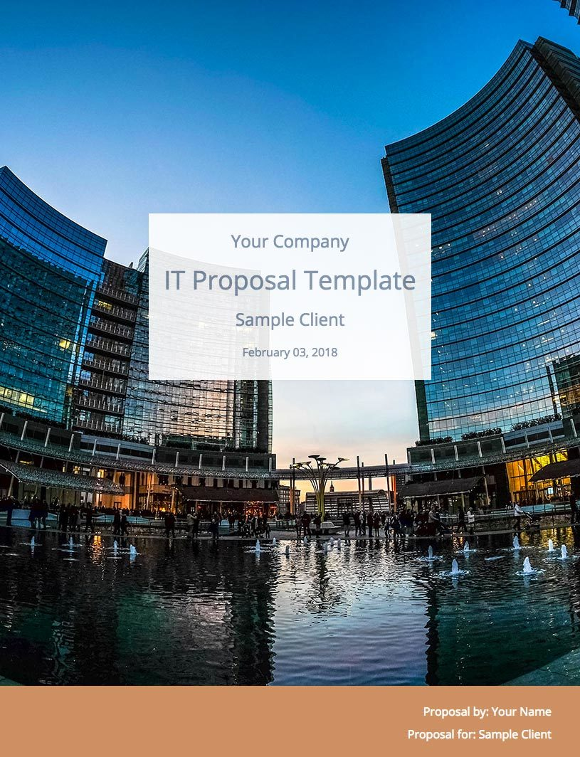 IT Consulting Proposal Template Cover Image