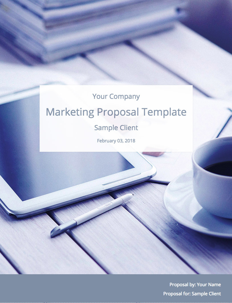 Marketing Proposal Template Cover Image
