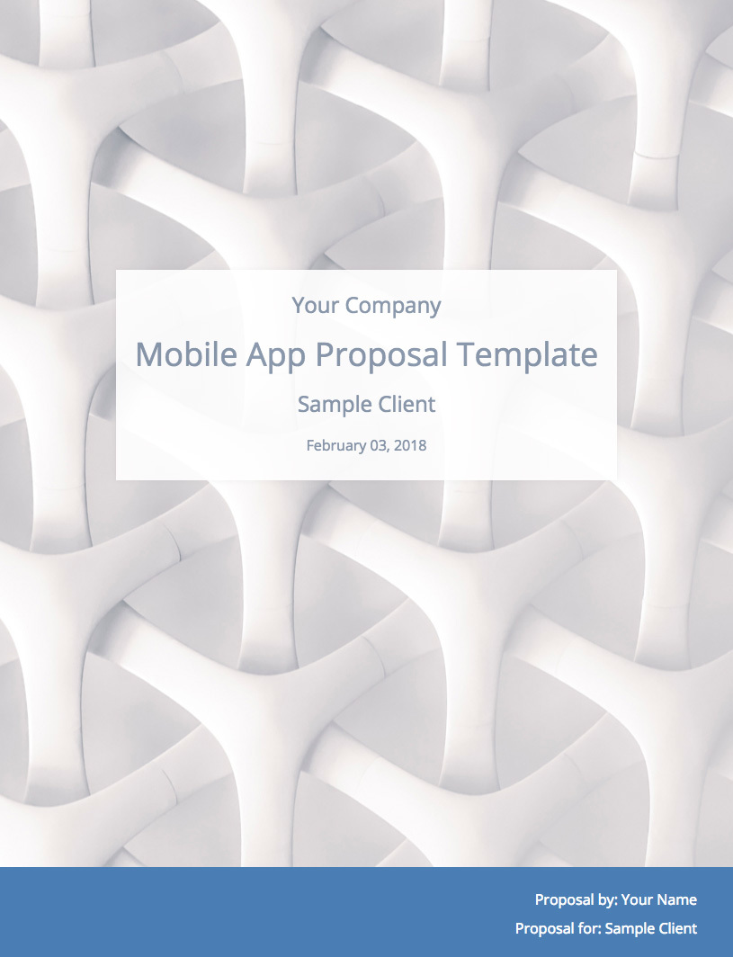 Mobile App Development Proposal Template Cover Image