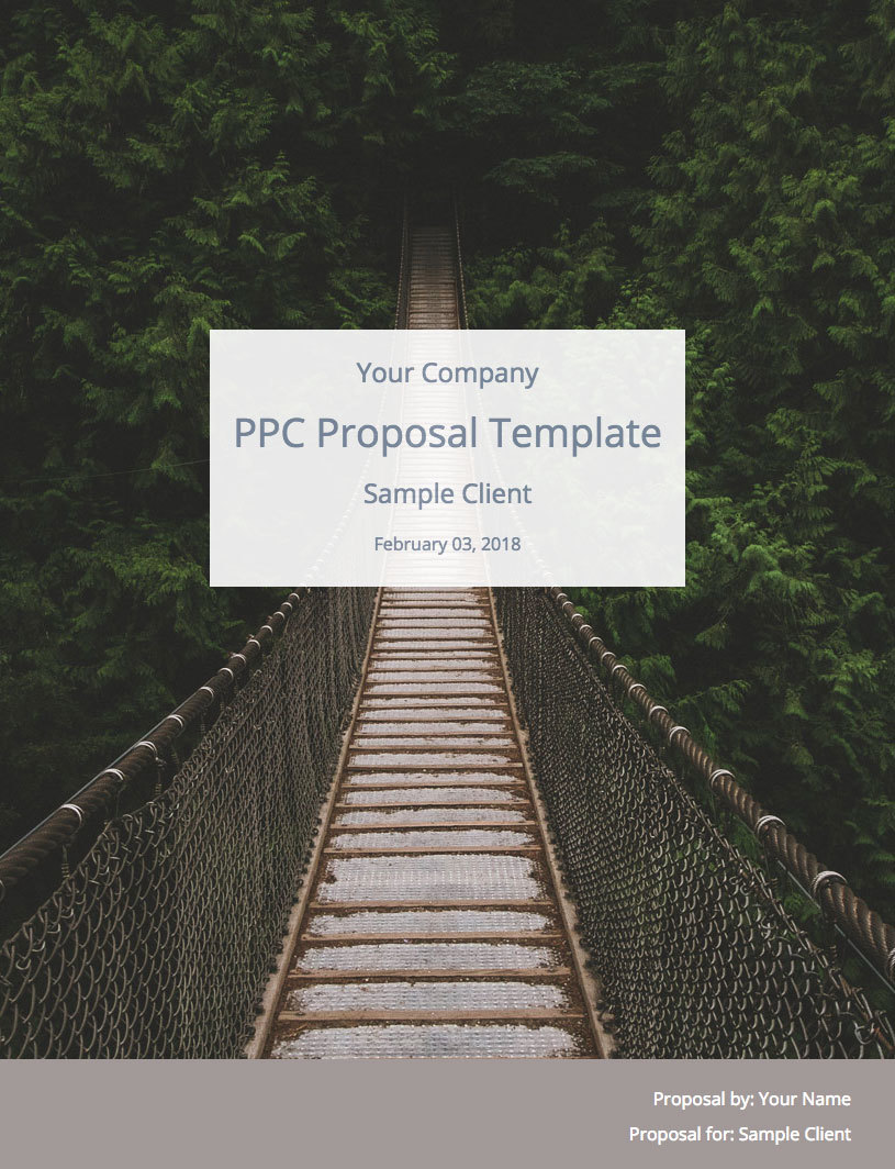 PPC Proposal Template Cover Image