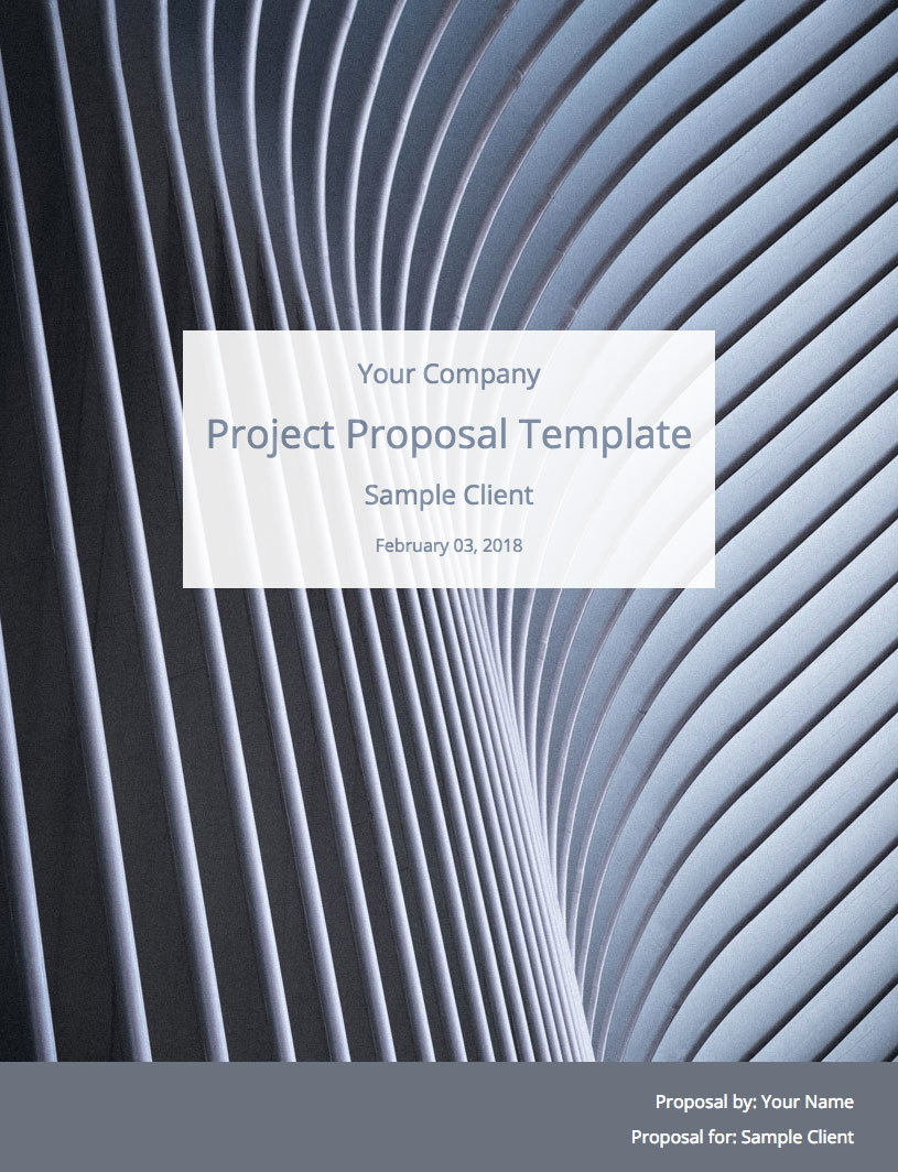 Project Proposal Template Cover Image