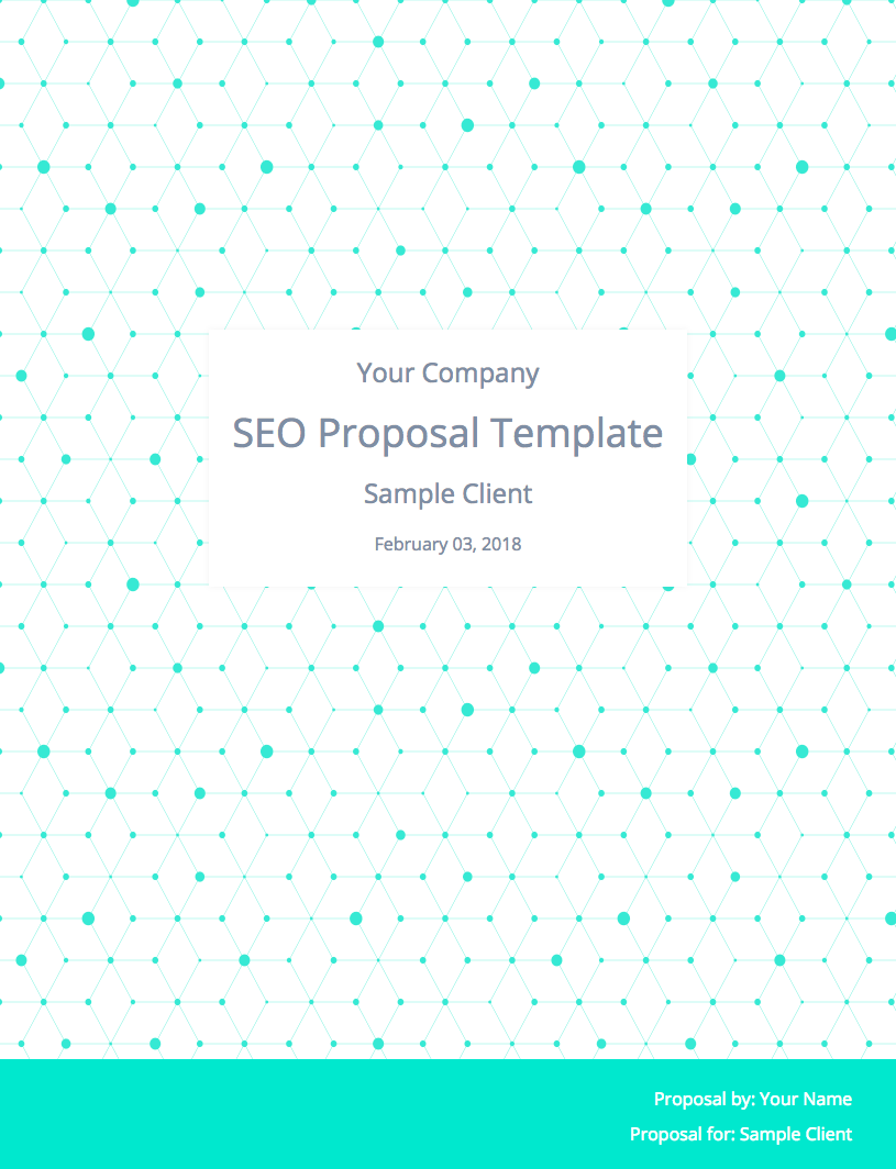 SEO Proposal Template Cover Image