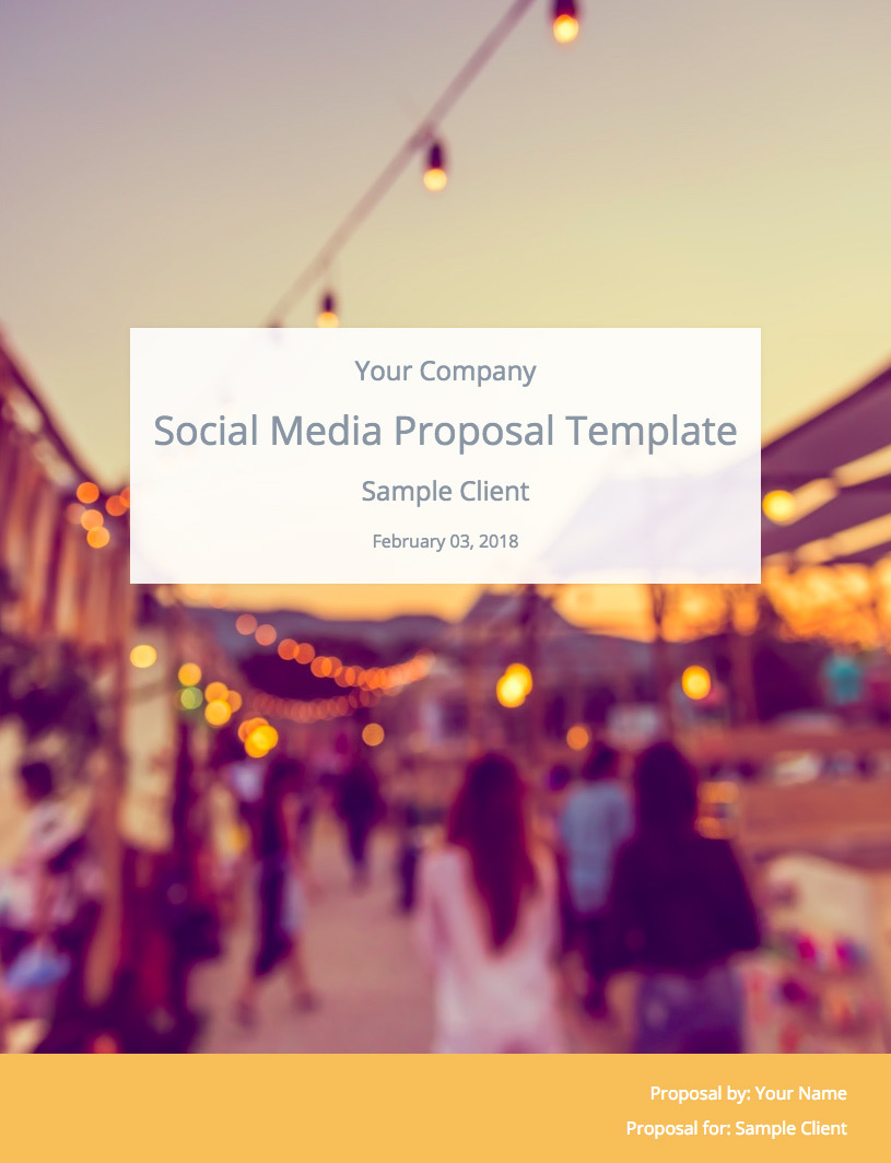 Social Media Proposal Template Cover Image