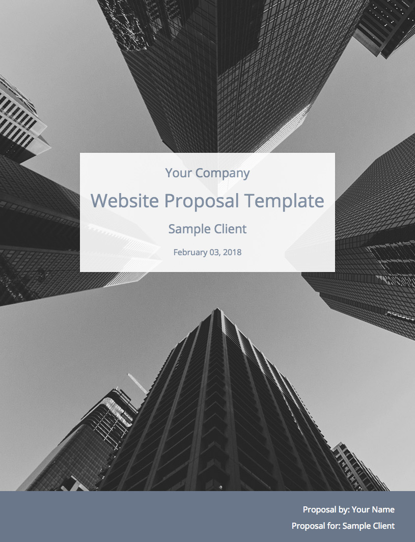 Website Proposal Template Cover Image