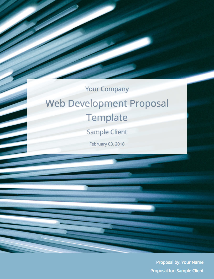 web development proposal template  free sample