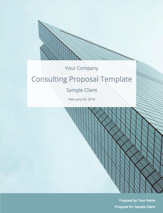 Consulting Proposal Template Free Download Bidsketch
