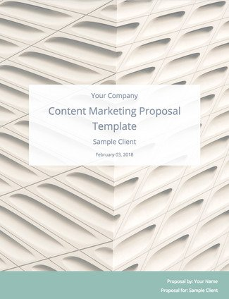 Content Marketing Proposal Template To Land More Clients Bidsketch