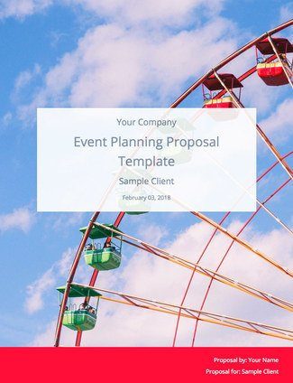 Event Planning Proposal Template (and Sample) | Bidsketch
