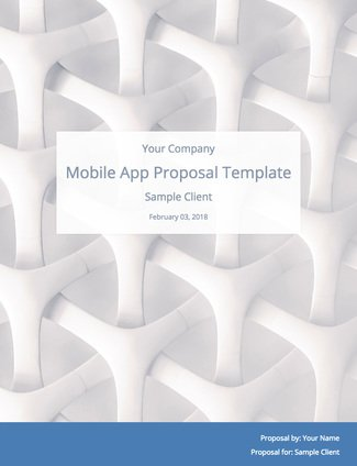 Mobile App Development Proposal Template With Sample Content