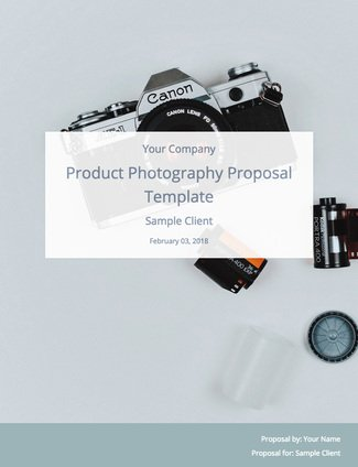 A Product Photography Proposal And Template To Win Clients  Bidsketch
